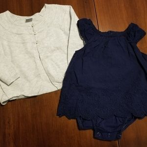 Carter's Dress and Old Navy cardigan